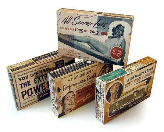 Designed by Niedermeier Design | Country: United StatesGift Boxes, Candies Boxes, Niedermei Design, Creative Packaging Design, Candies Packaging, Vintage Packaging, Leatherback Printer, Creative Package Design, Design Archives