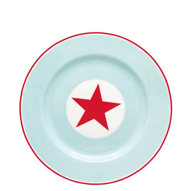 Plate Star pale blue.