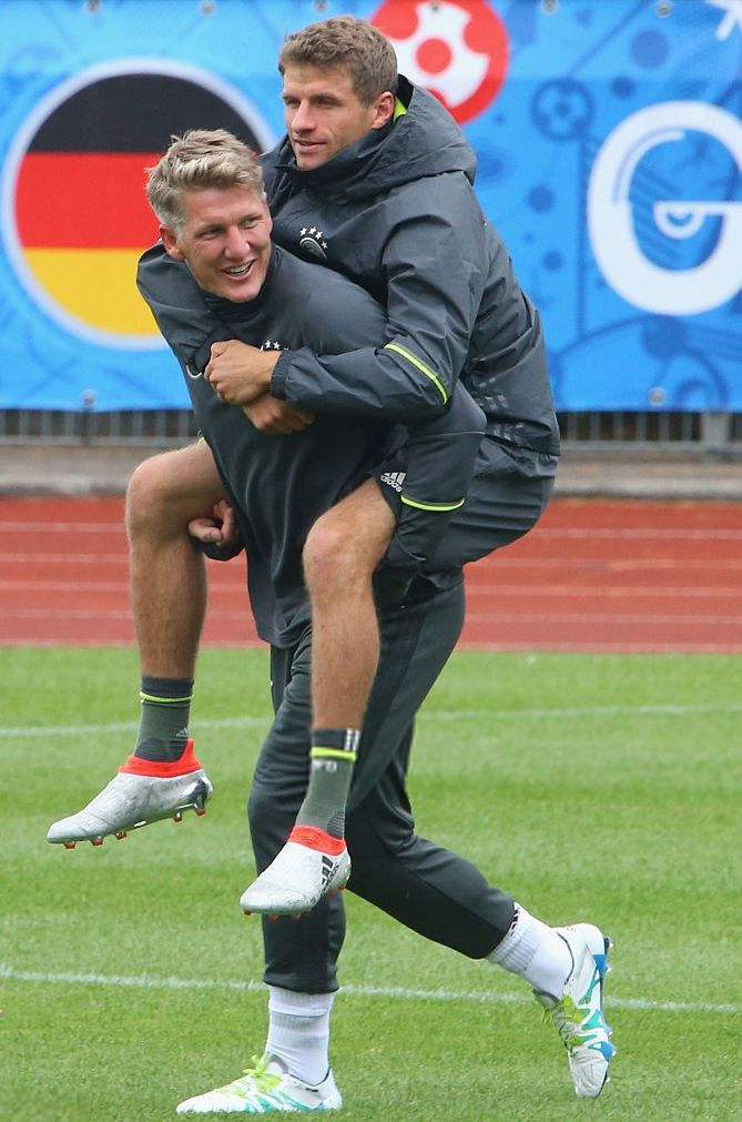 Bastian Schweinsteiger and Thomas Müller