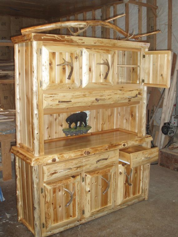 Rustic Hutch Buffett Northern White Cedar by Kingoftheforest,
