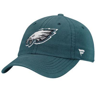 Philadelphia Eagles NFL Pro Line by Fanatics Branded Fundamental Adjustable Hat - Green