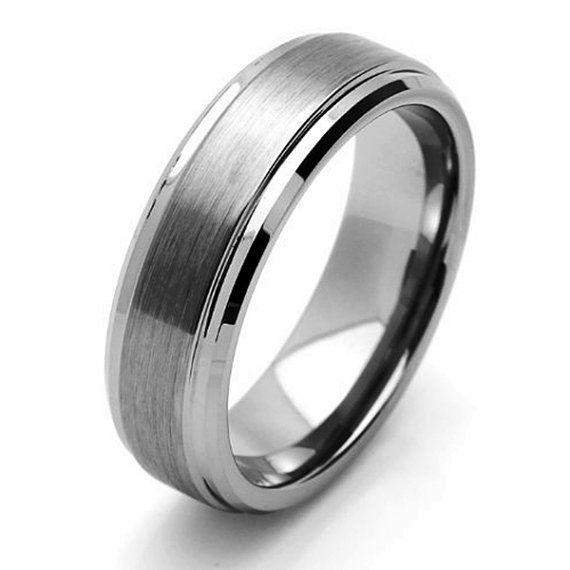 7MM Tungsten Wedding Band Comfort Fit Promise by SIMPLEnUNIQUE, $38.00