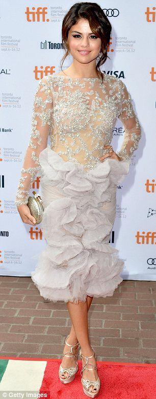 Selena Gomez in Marchesa for the Spring Breakers premiere at the Toronto Film Festival