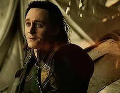 Loki  from Thor: The Dark World *gif* I love how he captured the combination of slight amusement with sadness.
