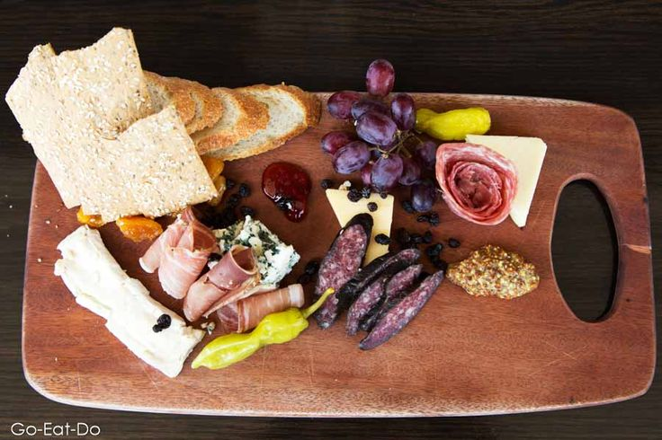 Charcuterie platter and sharing dishes served for lunch at the Fairmont Banff Springs Hotel in Banff.