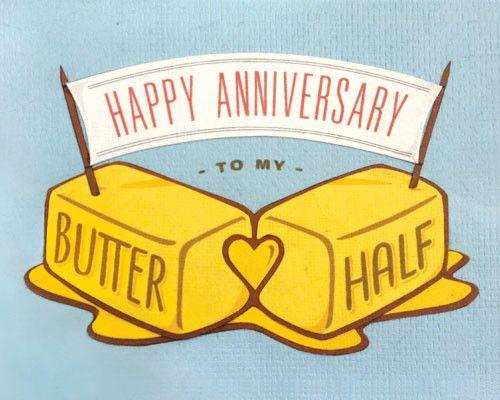 Butter Half Anniversary Card