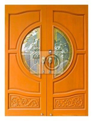 Fotobehang Thaise stijl houten deuren bijv. 141x182 cm €85
