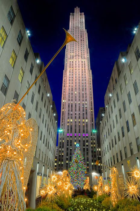 Rockefeller Center, New York City Merry Christmas