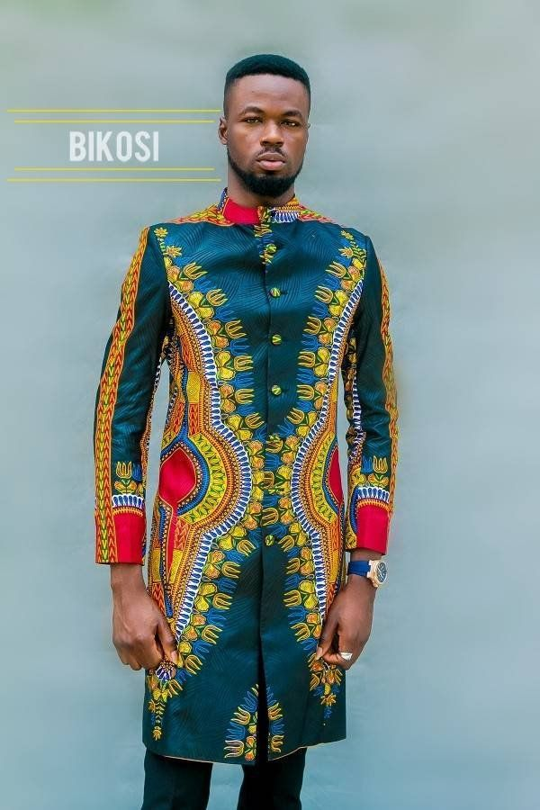 Veste tailleur dashiki pour homme costume imprimé africain