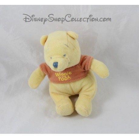 Petite peluche Winnie l'ourson NICOTOY jaune 14 cm