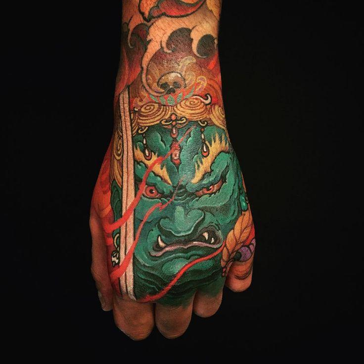 Fudo myoo hand tattoo @chronicink