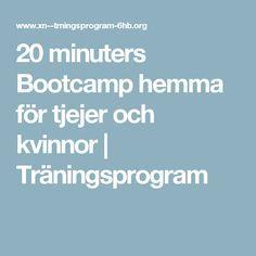 20 minuters Bootcamp hemma för tjejer och kvinnor   Träningsprogram