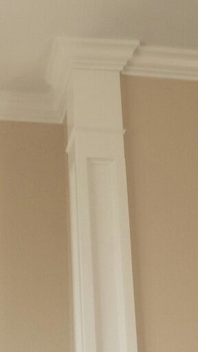 Faux Column Wall Edge Decorative Trim Crown Molding Diy