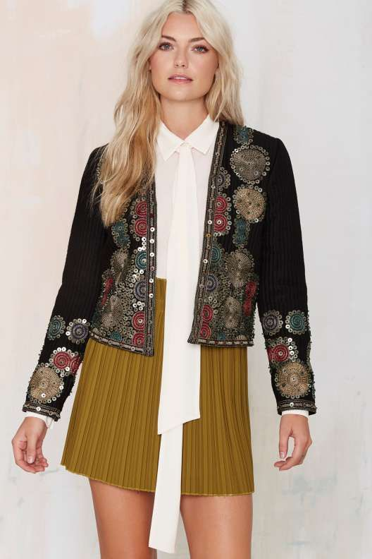 Maison Scotch Whitley Embroidered Jacket