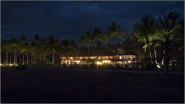 Tout le charme de l'hôtel photographié de nuit