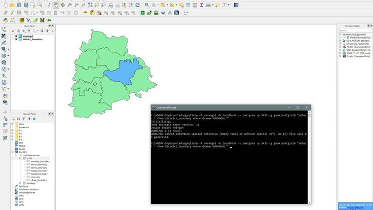 PostGIS  pgsql2shp.exe  Export table to Shapefile using SQL statements  Command Line