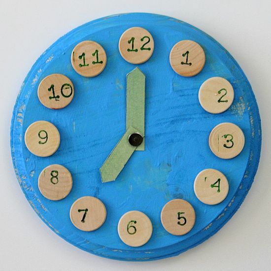 20 best ideas about kids clocks on pinterest clock for for Small wooden numbers craft