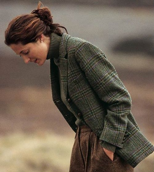 "the-tweed-fox: "" woodburning: "" Orvis Irish Tweed jacket. "" Where does one find a woman that dresses like this (outside of an Orvis or RL catalogue)? """