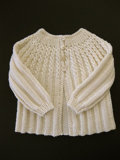 vintage baby cardigan.  DK weight.  Pattern sized for 12 months, but notes say it fits a 6 month old.