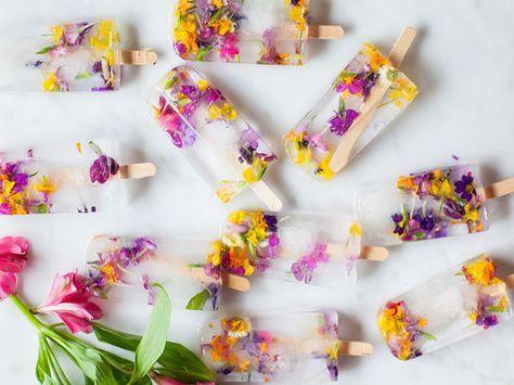 Postes con flores comestibles, un postre saludable para este verano   – flores comestibles