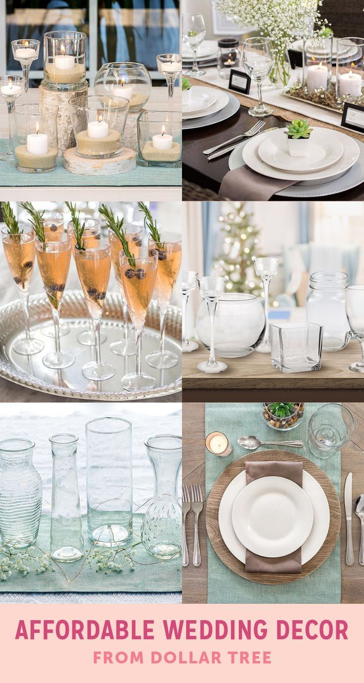Affordable Wedding Decor From Dollar Tree Wedding Decor Weddingdecorations Wedding Decorations On A Budget Cheap Wedding Decorations Cheap Wedding Supplies