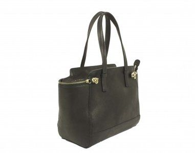 Hippe zwarte lederen schoudertas  Deze tas is gemaakt van zacht leer Binnenin is mooi bekleed met duurzaam materiaal, heeft een ritssluiting en twee extra zakken voor de portemonnee en mobiele tele...