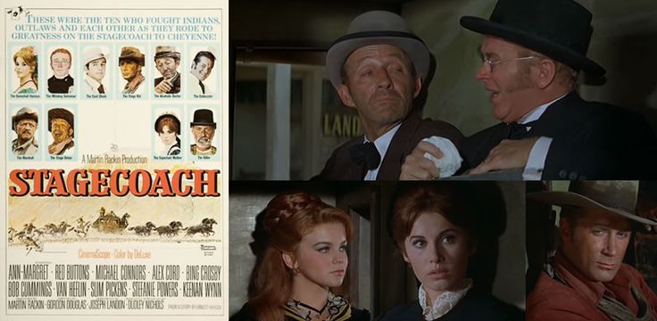 Stagecoach (1966) Ann-Margret, Red Buttons, Bing Crosby, and Stefanie Powers are some of the famous names in this 1966 version of the John Ford western from 1939