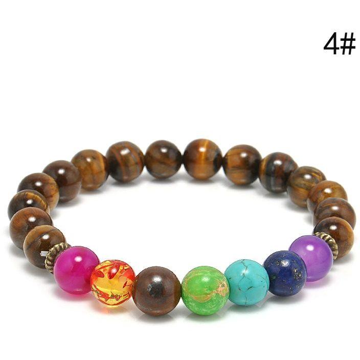 NEW Premium 7 Chakras Healing Energy Beads Yoga Bracelet Bracelet Body Kingdom Shop