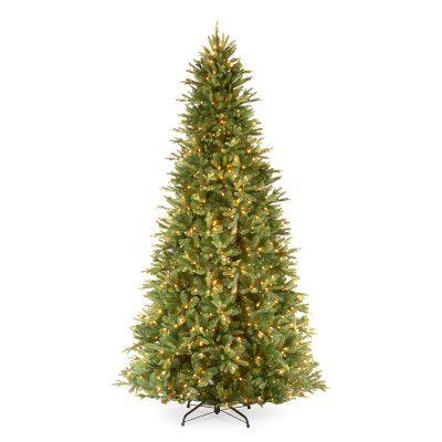 9 ft. Feel-Real Tiffany Fir-Slim Hinged Pre-Lit Christmas Tree - PETF3-304-90