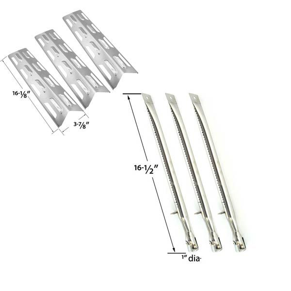 REPLACEMENT KIT INCLUDES 3 STAINLESS BURNERS AND 3 STAINLESS HEAT PLATES FOR PERFECT FLAME SLG2008A, SLG2007A GAS GRILL MODELS Fits Compatible Perfect Flame Models : SLG2008A, SLG2007A, SLG2007B, SLG2007D, 61701, 65499, 67119, 63033  Read More @http://www.grillpartszone.com/shopexd.asp?id=34473&sid=35057
