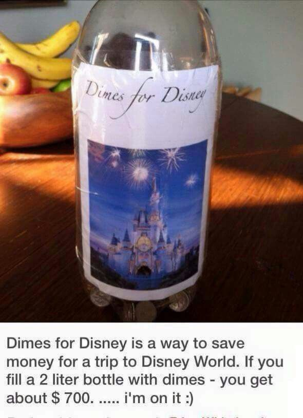 2 liter bottle full of dimes equals about $700.00
