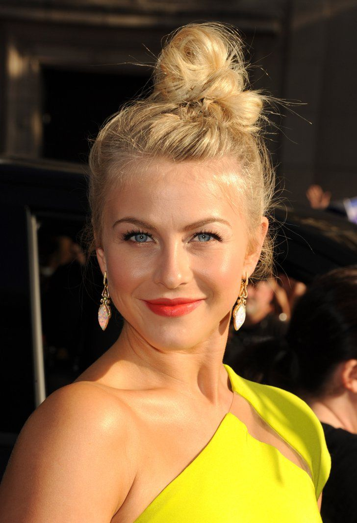 Pin for Later: 10 Top Hairstyles From Julianne Hough, Queen of the Updo  Even when her hair was longer, Julianne loved a messy updo. Her topknot for the Rock of Ages LA premiere had an unfinished feel and lots of texture.