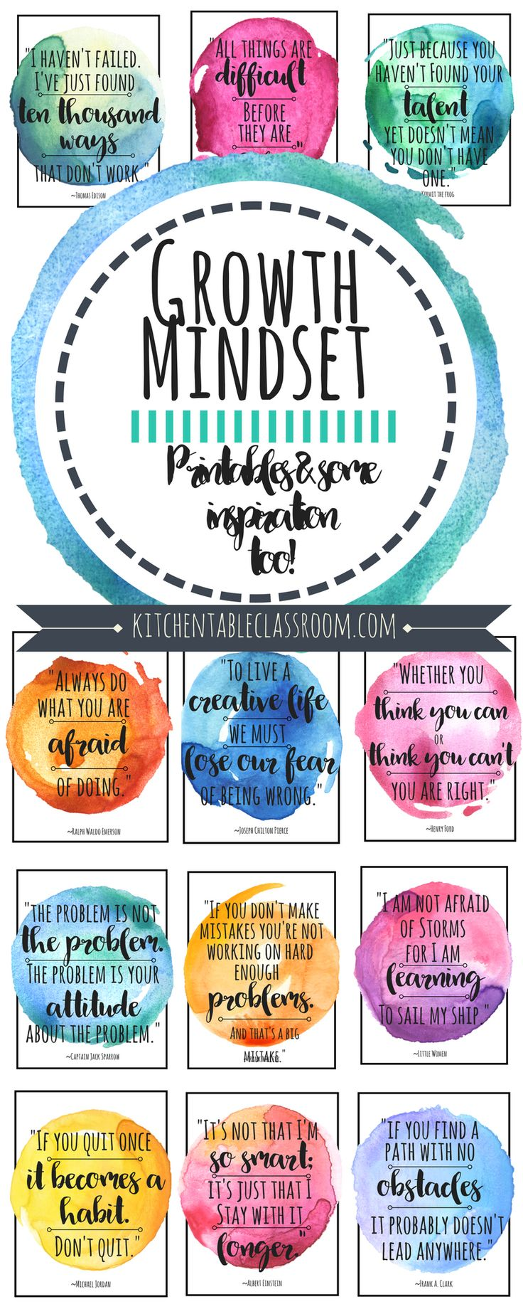 I love that what you know & what you can do can change at anytime! This is exciting news, right? These growth mindset quotes are good reminders of just that