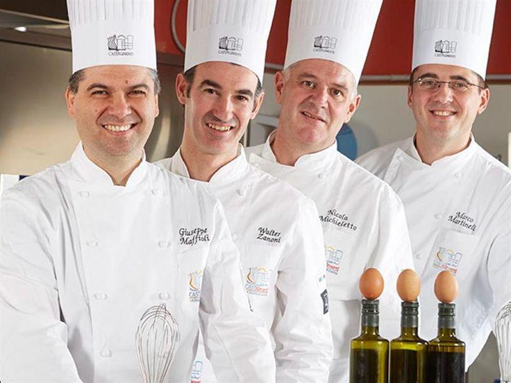 Da sin gli chef Beppe Maffioli, Walter Zanoni, Nicola Michieletto , Marco Martinelli . Grandi professionisti, docenti anche della scuola Cast Alimenti