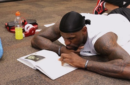 I don't care what you think of LeBron James. He loves to read, and that makes him a cool kid.