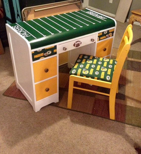 Sports Desks For Order Desk With Chair Kids Desks Kids Chairs Football Desk Baseball Desk Any Design Sports Themed Room Football Theme Bedroom Boys Desk