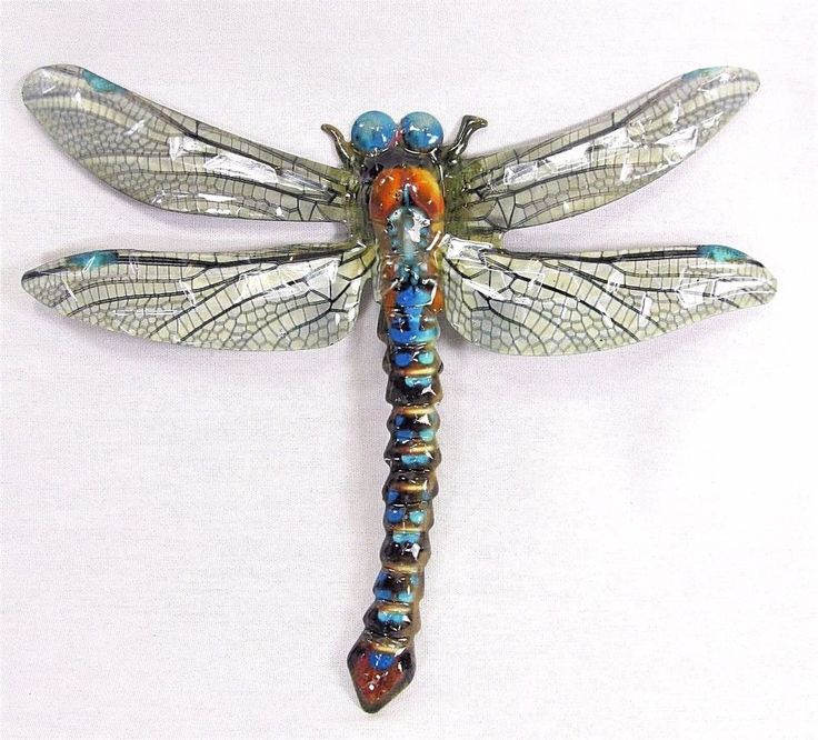 Dragonfly metal wall art hand painted home decor a with