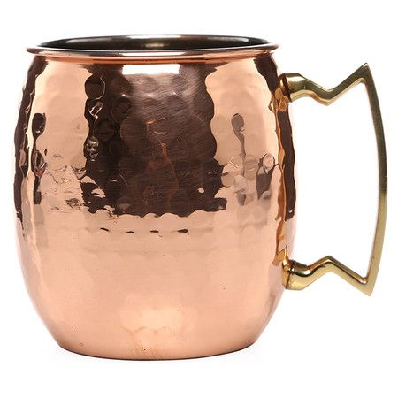 Copper mule mug with hammered detailing and nickel lining. Product: Set of 4 mugsConstruction Material: Coppe...