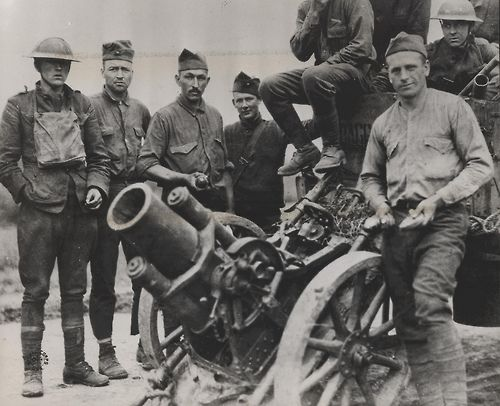A German trench mortar—Minnenwerfer—captured at the Battle of Belleau Wood by the US Marines 2nd Battalion, 5th Regiment