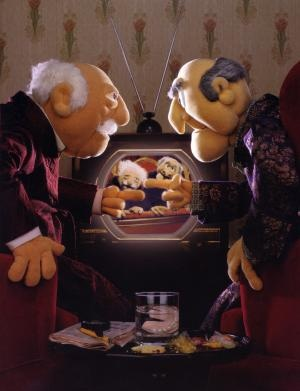 Statler and Waldorf. Because they were trolls before Internet trolling was cool.