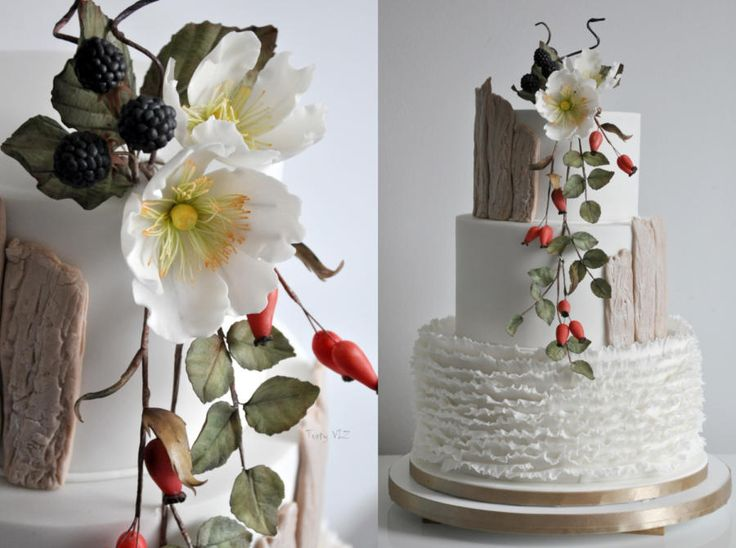 Wedding autumn cake by CakesVIZ - http://cakesdecor.com/cakes/260038-wedding-autumn-cake