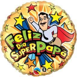 "18"" Feliz Dia Super Papa - Non-Pkg Foil Balloon (5ct)"