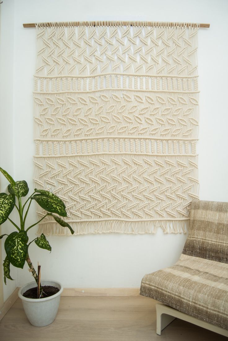 """Large macrame, macrame wall hanging, large macrame wall hanging """"Autumn Forest"""", macrame curtain, bohemian wall art, natural cord by TheWovenDreamFactory on Etsy https://www.etsy.com/listing/256122903/large-macrame-macrame-wall-hanging-large"""