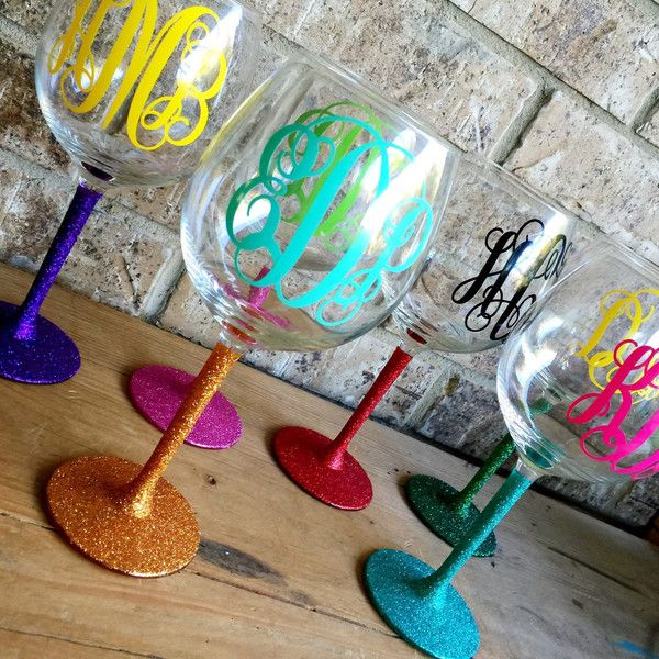 Glitter Stem Wine Glasses Custom Wine Glass Party Set of Rainbow... ($72) ❤ liked on Polyvore featuring home, kitchen & dining, drinkware, drink & barware, grey, home & living, glitter wine glass, glitter stem wine glass, colored martini glasses and colored wine glass