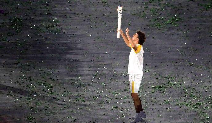 Guga Abertura Rio 2016  (Foto: Agência AP)