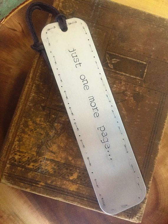 Just one more page - Hand Stamped Bookmark                                                                                                                                                                                 More