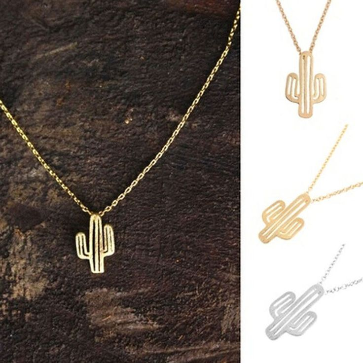 Details about Stylish Summer Geometric Lovely Cactus Chain Necklace Kaktus Collier Kette GiftElla Cavazos