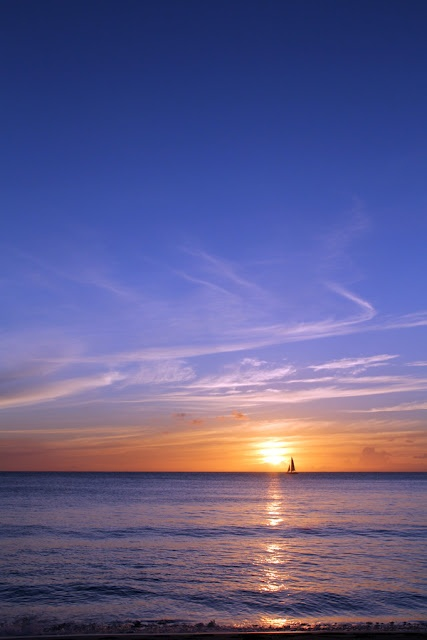 A Bajan sunset! Ahhhh!