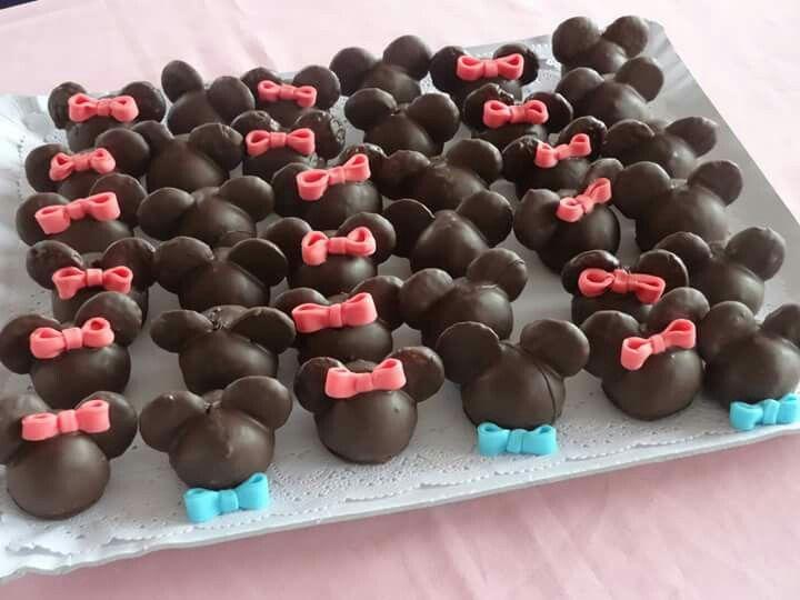 Mis cocadas en forma de Minnie y Mickey
