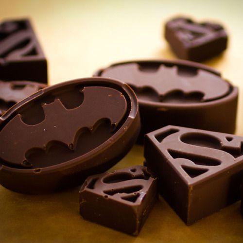 Super Hero Batman and Superman Chocolates